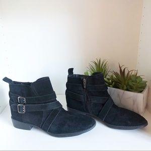 Sam Edelman Black Suede Leather Booties Size 9.5